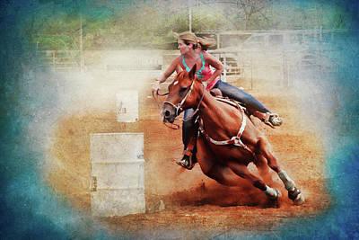 Barrel Racing Photograph - Cowgirl Trust by Toni Hopper
