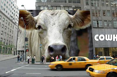 Calves Digital Art - Cowhouse Street Art No. 1 by Geordie Gardiner