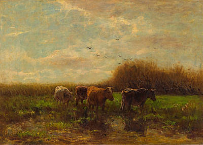 Painting - Cows At Evening by Willem Maris