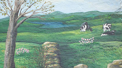 Painting - Cows In Field by Barbara McDevitt