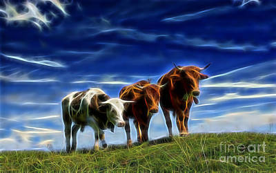 Cows Print by Marvin Blaine