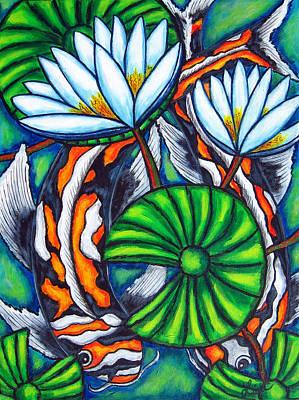 Coy Carp Print by Lisa  Lorenz