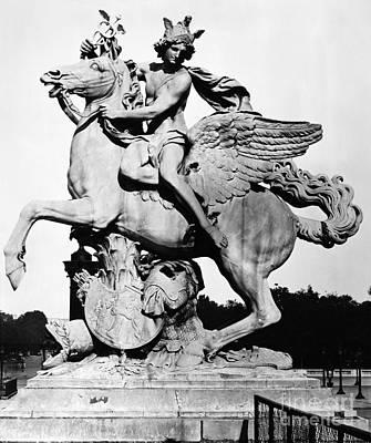 Pegasus Photograph - Coysevox: Mercury & Pegasus by Granger