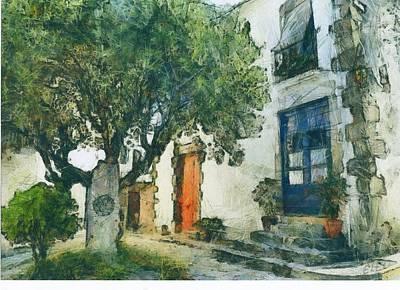 Etc Mixed Media - Cozy Garden, Sant Pol De Mar, Spain by Evgeny Leonov