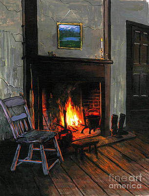 Old Cabins Painting - Cozy by Robert Foster