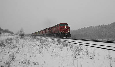 Cp Rail 2 Print by Stuart Turnbull