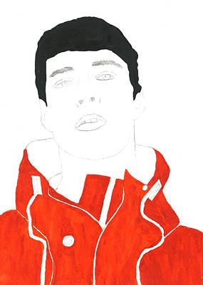 Hoodie Digital Art - Cp Red Hoodie by Thomas Paul