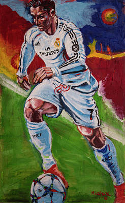 Cristiano Ronaldo Painting - CR7 by Sergio Mariscal
