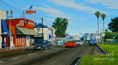Corvette Painting - Crab Cooker Newport Beach by Frank Dalton