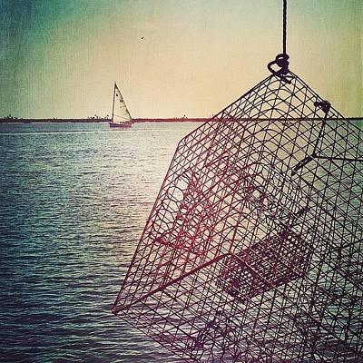 Boat Photograph - Crab Trap #biloxi #sailboat #crab by Joan McCool