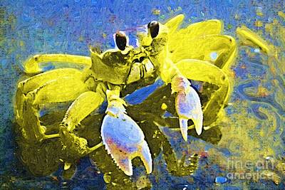 Crabs Painting - Crabby And Cute by Deborah MacQuarrie-Haig