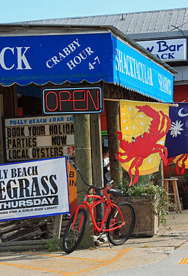 Awning Photograph - Crabby Hour 4-7 by Suzanne Gaff