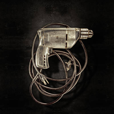 Hardware Photograph - Craftsman Drill Motor Bs On Black by YoPedro