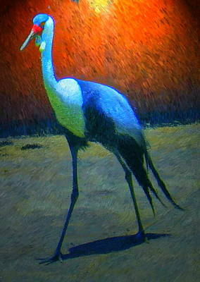 Crane Walk Print by Michael Durst