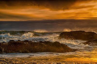 Sea Photograph - Crashing Waves by Andrew Soundarajan