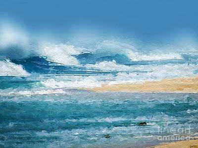 Surf Digital Art - Crashing Waves by Anthony Fishburne