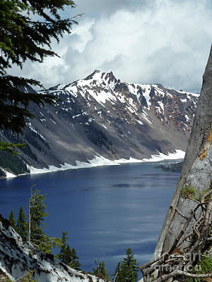 Crater Digital Art - Crater Lake 6 by Methune Hively