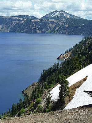 Crater Digital Art - Crater Lake 8 by Methune Hively