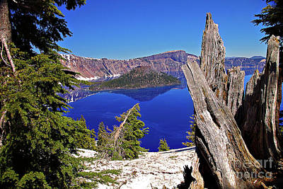 Photograph - Crater Lake And Wizard Island by Rich Walter