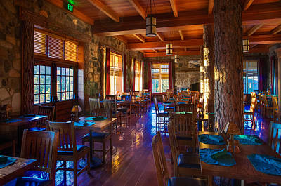 Crater Lake Lodge Dining Room Print by Scott McGuire