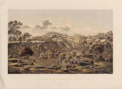 Crater Of Mount Eccles Print by Celestial Images