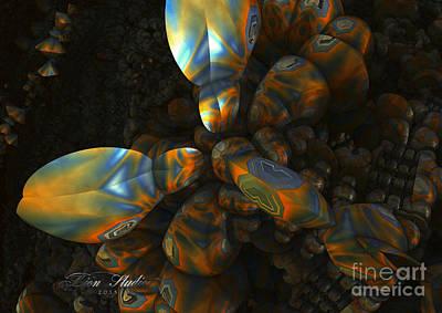 Abstract Digital Art - Crawdad by Melissa Messick