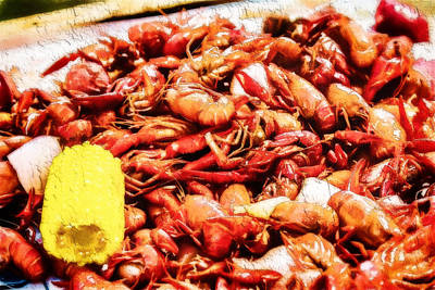 Crawfish Country Feast Print by Barry Jones