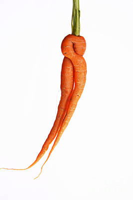 Carrot Photograph - Crazy Carrot Fine Art Food Photography by James BO  Insogna