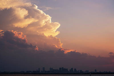 Winthrop Photograph - Crazy Clouds Over The Boston Skyline Boston Ma Winthrop Ma by Toby McGuire