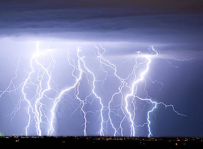 The Lightning Man Photograph - Crazy Skies by James BO  Insogna