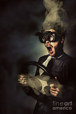 Crazy Speed Car Driver Print by Jorgo Photography - Wall Art Gallery