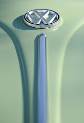 Cream Green Volkswagon Print by Brian Mollenkopf