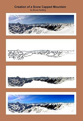 Snow Piles Painting - Creation Of A Snow Capped Mountain by Bruce Nutting
