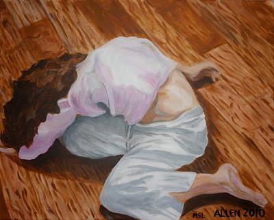 Dance Floor Painting - Creative Dance by Cassandra Allen