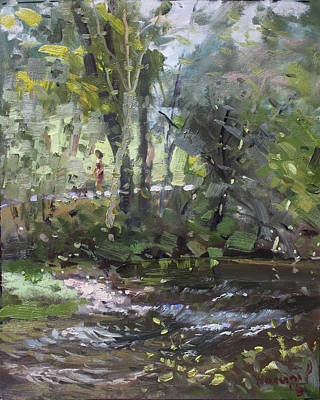 Fall Painting - Creek At Three Sisters Islands by Ylli Haruni