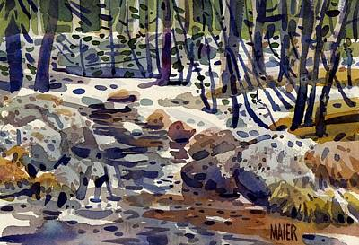 Creek At Tuolume Meadows Original by Donald Maier