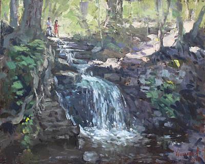 Creek Falls  Print by Ylli Haruni