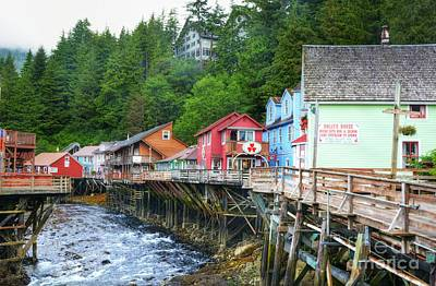 Creek Street In Ketchikan Print by Mel Steinhauer