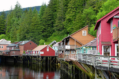 Creek Street Ketchikan Alaska Print by Barbara Snyder