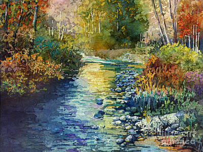 Creekside Tranquility Print by Hailey E Herrera