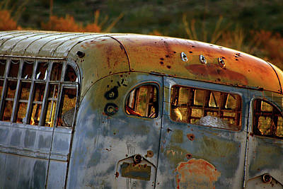 Old School Bus Photograph - Creepers by Trish Mistric