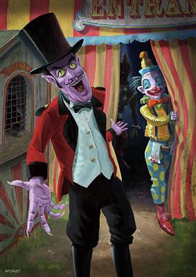 Creepy Circus Print by Martin Davey
