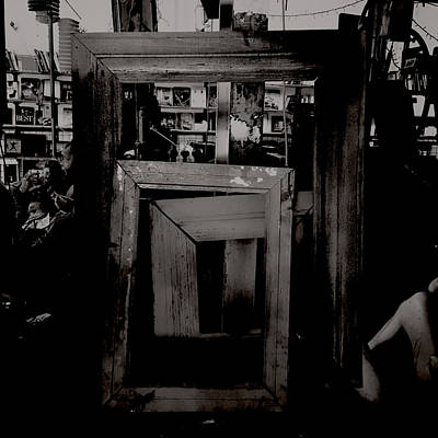Toy Shop Photograph - Creepy Old Stuff - Empty Frames by Marco Oliveira