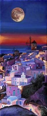 Windmill Painting - Crepuscolo Tra I Mulini by Guido Borelli