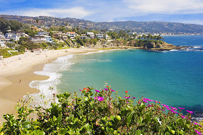 Bay Photograph - Crescent Bay Laguna Beach California by Utah Images