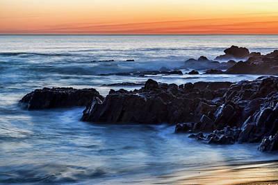 Crescent Bay Rocks Print by Kelley King