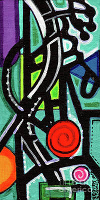 Painting - Creve Coeur Streetlight Banners Whimsical Motion 13 by Genevieve Esson