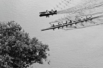 Boathouse Row Photograph - Crew by Don Mennig