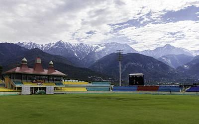 Travelling Art Digital Art - Cricket Stadium by Rakesh Mohan Sayal