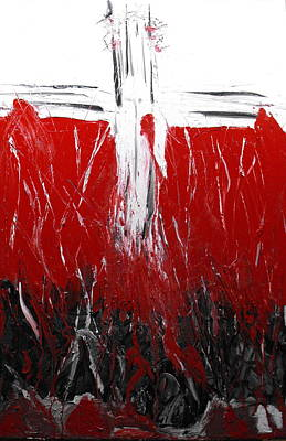 Forgiveness Painting - Crimson Cleanse by Ginger Repke